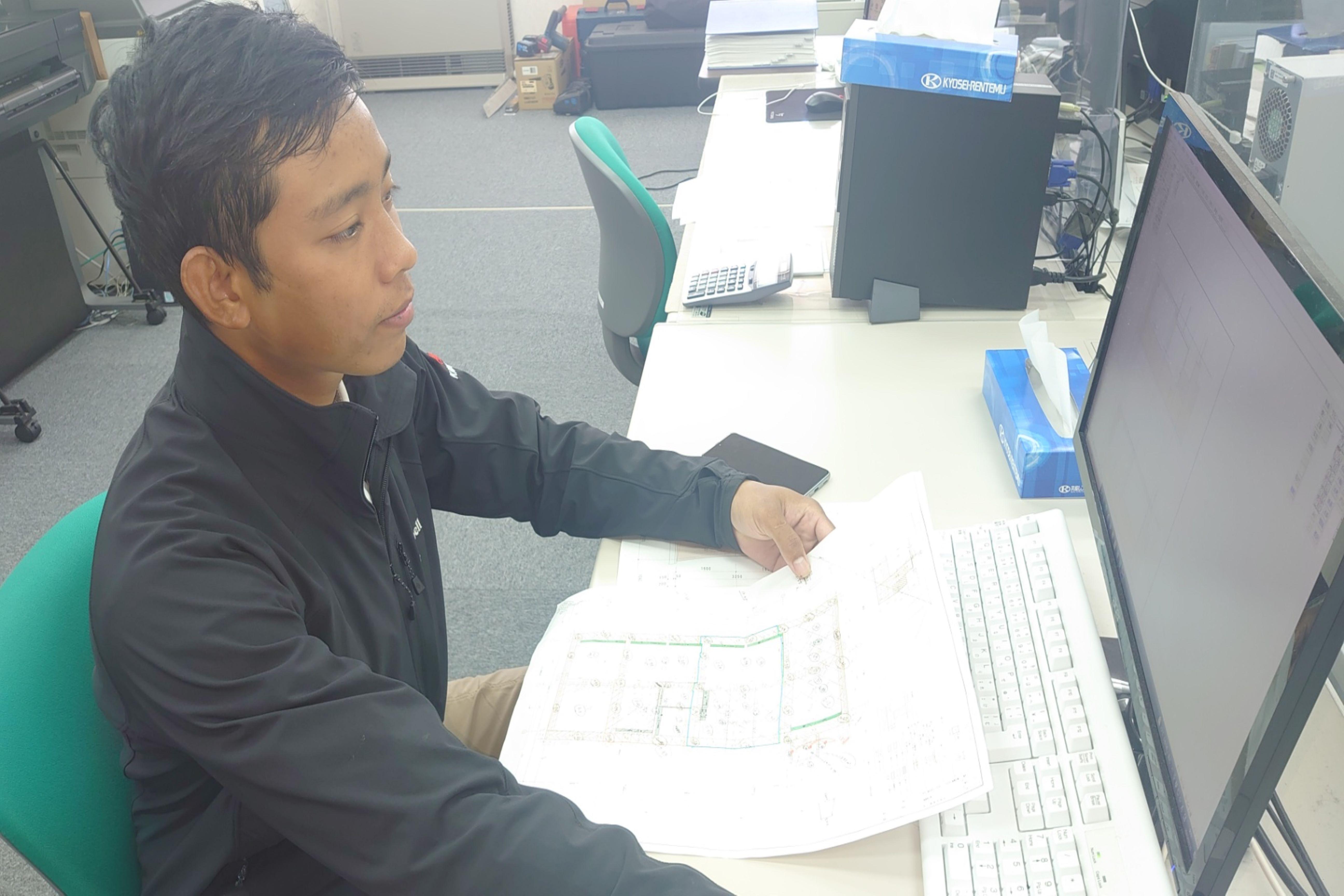 ミャンマーから来た技術者へインタビュー